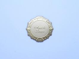 Etiqueta Luxo Aguá de Lençóis Dourada (Unidade)