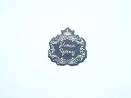 Etiqueta Luxo Coroa Home Spray Preta com Dourada
