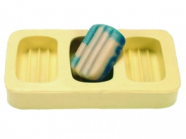 Molde de Silicone Canelado Mini 3 cav