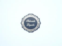 Etiqueta Luxo Sabonete Liquido Preta com Dourada