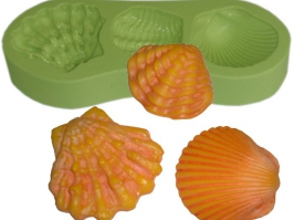 Molde de Silicone Conchas do Mar