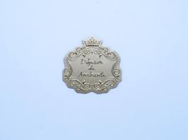 Etiqueta Luxo Coroa Difusor de Ambiente Dourada