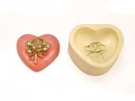 Molde de Silicone Coração com Flor