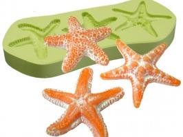 Molde de silicone Estrelas do Mar