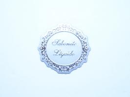 Etiqueta Luxo Sabonete Liquido Prata