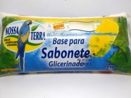 Base Sabonete Glicerinada Branca Nossa Terra 1kg