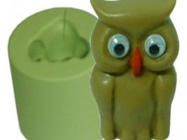 Molde de Silicone Coruja Pequena