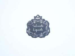 Etiqueta Luxo Coroa Sabonete Liquido Preta com Prata