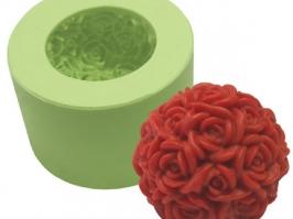 Molde de Silicone Bola de Rosas