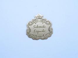Etiqueta Luxo Coroa Sabonete Liquido Dourada