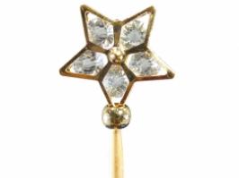 Vareta Estrela Cristal Dourado (Unidade)