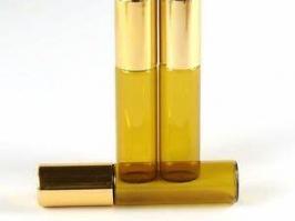 Vidro Rollon Âmbar 05 ml c/tampa dourada (unidade)