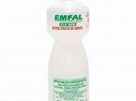 Alcool Etilico de Cereais 93,8% INPM  01 Litro