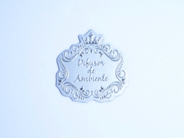 Etiqueta Luxo Difusor de Ambiente Prata