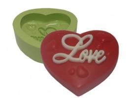 Molde de Silicone Coração Love