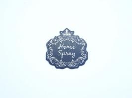 Etiqueta Luxo Coroa Home Spray Preta com Prata
