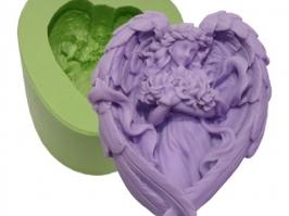 Molde de Silicone Anjo Asas Coração