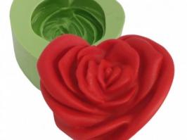 Molde Rosa Coração
