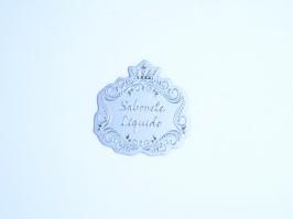 Etiqueta Luxo Coroa Sabonete Liquido Prata