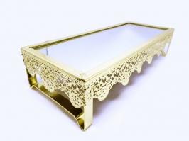 Bandeja de Ferro Retangular Ouro (27x11)