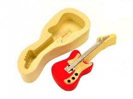 Molde de Silicone Guitarra